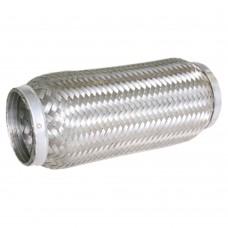 """Flexibel uitlaatdeel, gevlochten, lasstuk, 3"""" diameter, 250mm lang"""