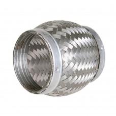 """Flexibel uitlaatdeel, gevlochten, lasstuk, 3"""" diameter, 100mm lang"""