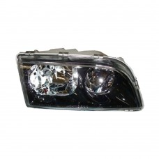 Koplamp unit, rechts, dubbele reflector, zwarte behuizing, Volvo S40, V40, ond.nr. 30899679