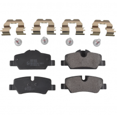 Remblokkenset met montagemateriaal, Achter, OE-Kwaliteit, Mini, F55, F56, F57, bj 2014-heden, ond.nr. 34216871299, 34216861641