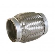 """Flexibel uitlaatdeel, interlock, lasstuk, 3"""" diameter,100mm lang"""