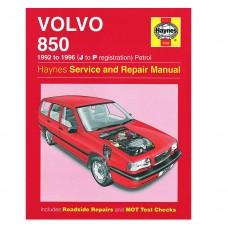 Volvo 850 onderdelen instructie boek, Haynes werkplaatshandboek, Volvo 850 benzine