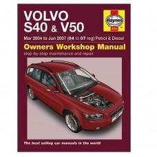 Haynes werkplaatshandboek, Volvo S40, V50, bouwjaar 2004-2007